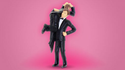 Ask An Iranian - How much English can Iranians speak - model of a man carrying a man