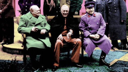 Ask An Iranian - The Big Three in Tehran, Churchill, Roosevelt and Stalin - 1945