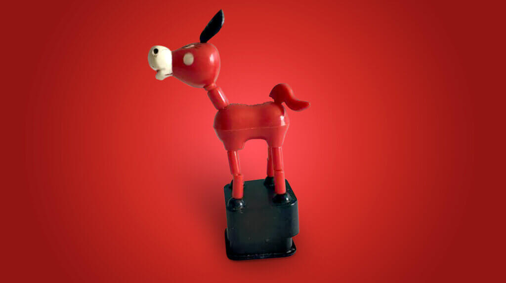 Red collapsable toy donkey - Ask An Iranian - What things should you not say to an Iranian? - Persian insults