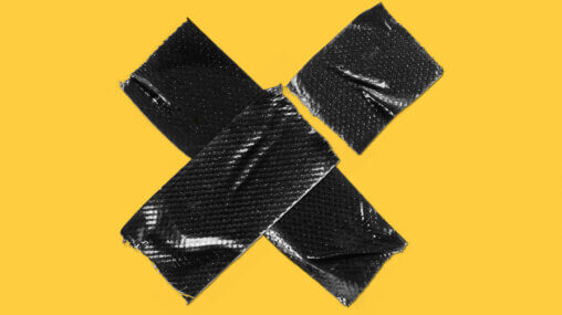 Duct tape over a yellow background - [redacted] in Iran? - Ask An Iranian