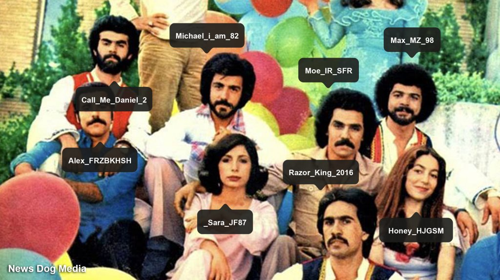 How do I spot the Iranians in the room? Iranian in the 70s