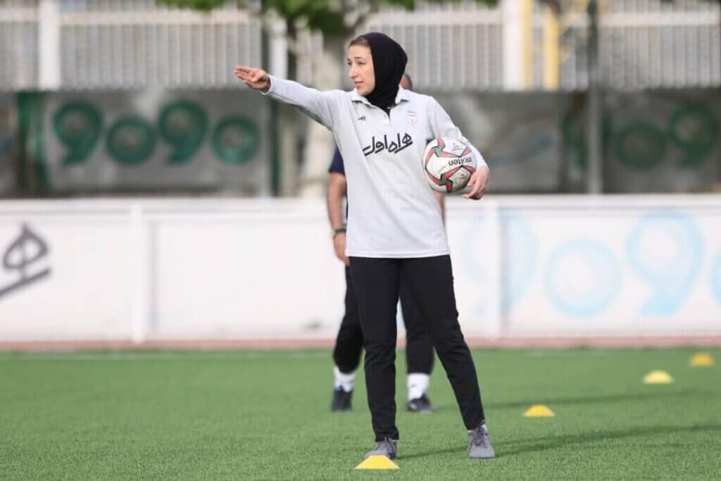 Iranian women's under 19 national football team coach, Katayoun Khosrowyar
