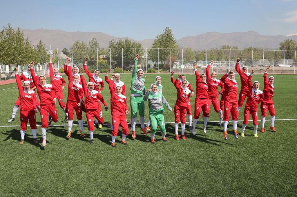 Iran's women's under 19 national football team.
