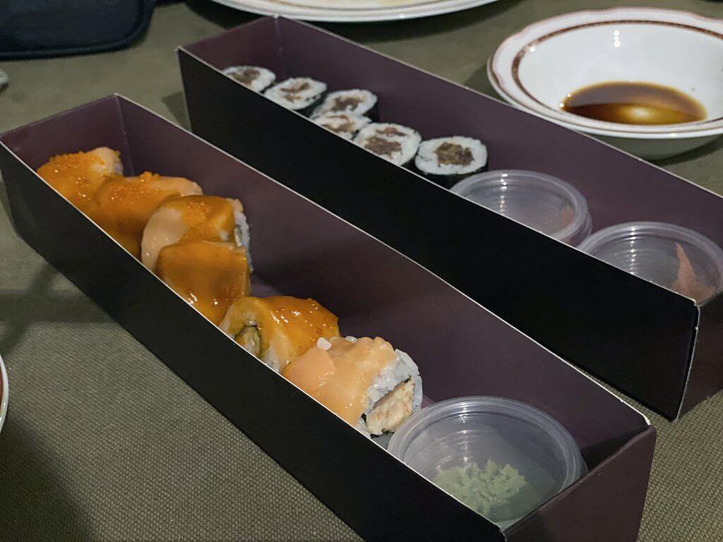 Iranian-made sushi from Kenzo Restaurant, Tehran
