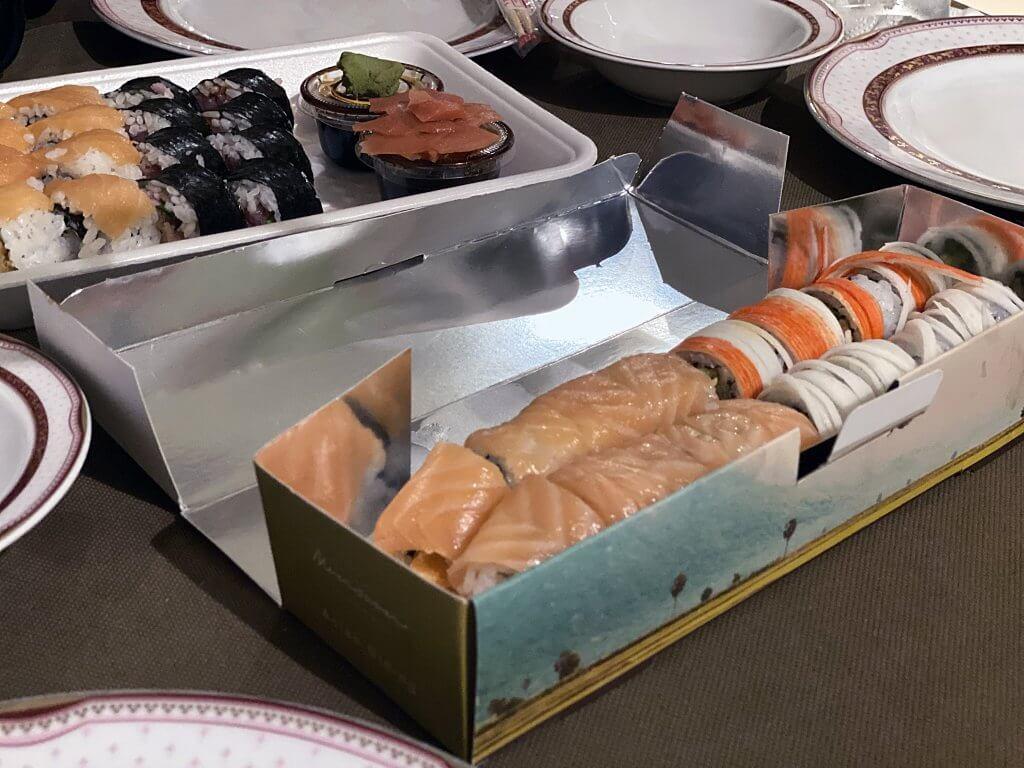 Iranian-made sushi from Monsoon, Tehran